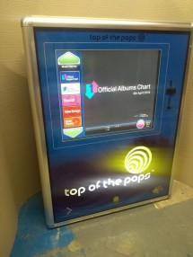 Pub Digital Wall Jukebox. Music in Milestones with the Official Charts